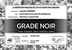 Grade noir de Grappling - FFL - Laurent Perier